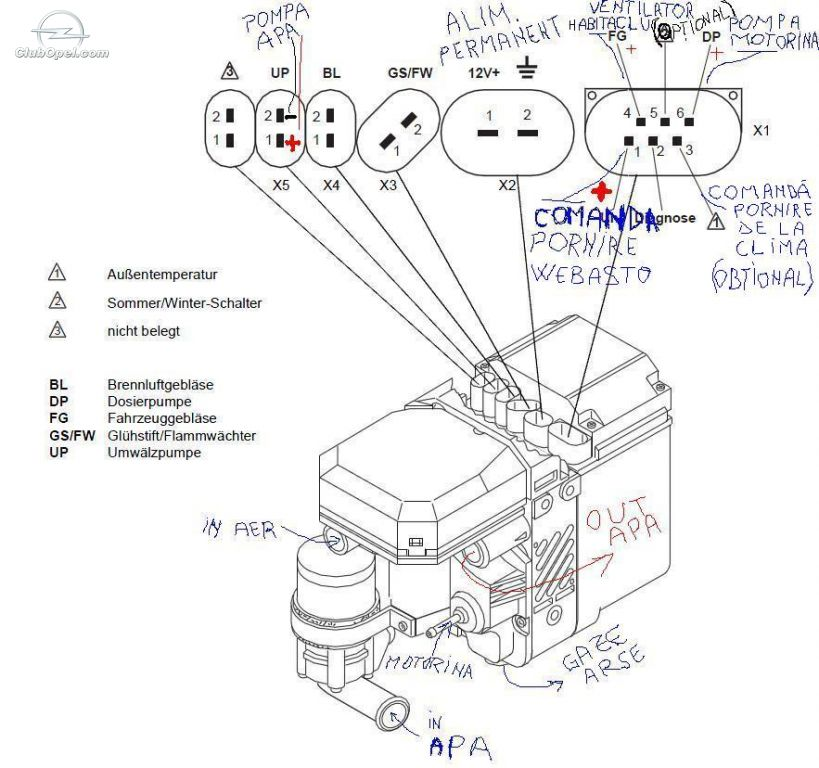 webasto thermo top wiring diagram